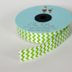 Chevron Christmas ribbon in lime