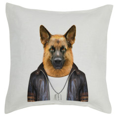 German Shepherd linen cushion