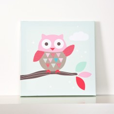 Waving owl wall canvas
