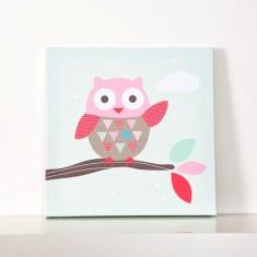 Waving owl wall canvas