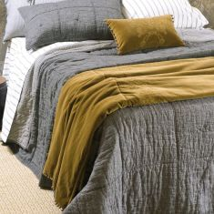 Noma charcoal bedspread