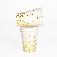 Gold confetti cups (2 packs)