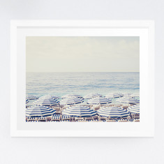 French Riviera beach photography print (framed)