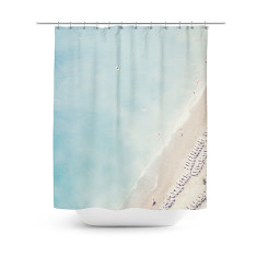 French Riviera shower curtain