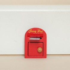 Fairy post box in red