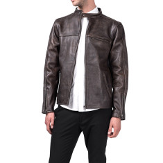Distressed M2 brown leather jacket