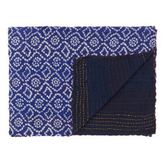 Kantha stitched blanket (various colours)