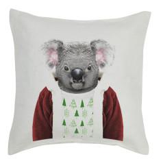 Christmas Koala linen cushion cover