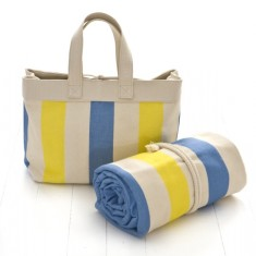 Beach bag - blue/yellow