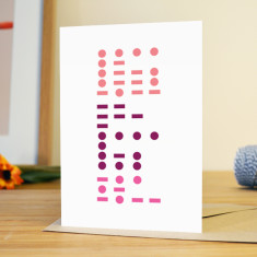 Morse code Mother's Day card