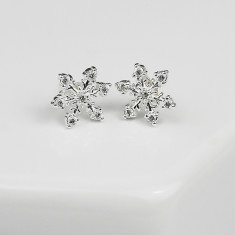 Snowflake Christmas Earrings - Large