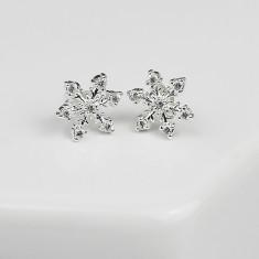 Snowflake Christmas Earrings - Large