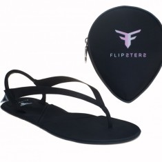 Flipsters black foldable flip flops