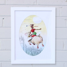 Pinocchio framed artwork