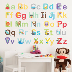 Learn the Alphabet Wall Stickers - Upper & Lower Case