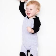 Grey Crawlsuit