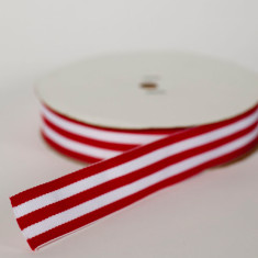 Red and white striped Christmas ribbon