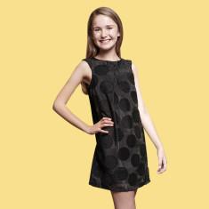 Large spot shift dress