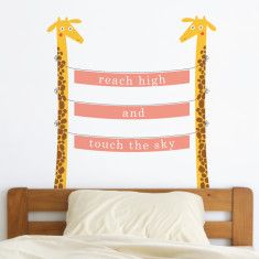Zoo Animals Giraffes Removable Wall Sticker