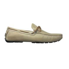 Loafers rope nubuck leather caramel men's shoe