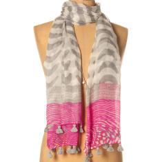 Lucky charm tassled scarf
