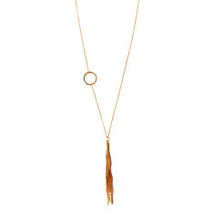 Gold Plated Chain Tassel Necklace