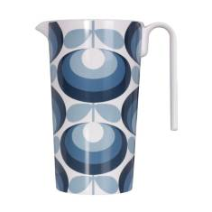 Orla Kiely melamine pitcher in 70's flower oval blue