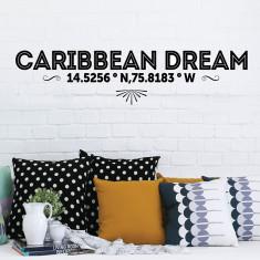 Caribbean Dream Latitude Removable Wall Sticker