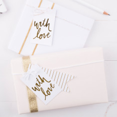 Gold foil with love gift tags (set of 6)