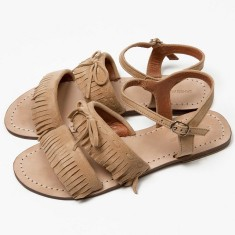 Baja fringe sandals in caramel