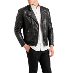 Black Jamie biker leather jacket