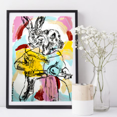 He had no idea where they were going, but she did so that's all that mattered Limited Edition Art Print