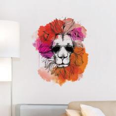 Summer Hipster Lion wall sticker