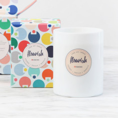 Flourish Luxe Candle in Coconut Vanilla & Magnolia