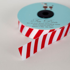Candy stripe ribbon in red