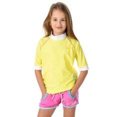 Girls UPF 50+ rashie in bright lemon