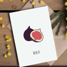 Oh fig it! greetings card
