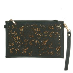 Julia zip top clutch