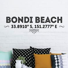Bondi Latitude Removable Wall Sticker