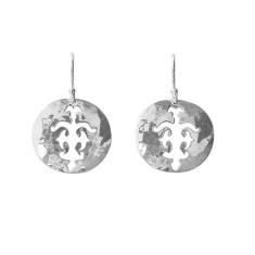 Tolus disc drop earrings in sterling silver