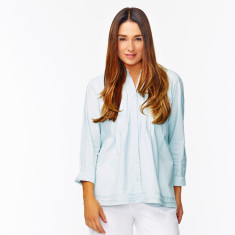 Duck egg blue tunic shirt
