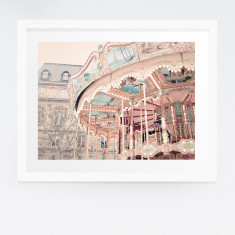 Paris carousel photography print