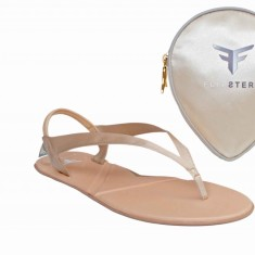 Flipsters foldable flip flop shoes in champagne