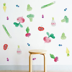 Vege Patch by Surfing Sloth wall sticker