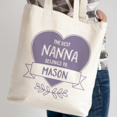 Personalised Mother's Day Heart Tote Bag