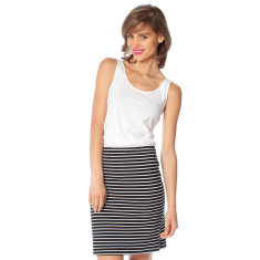 Black stripe cotton jersey skirt