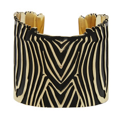 Zebra Cuff In Gold