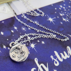 Shakespeare moon and stars necklace