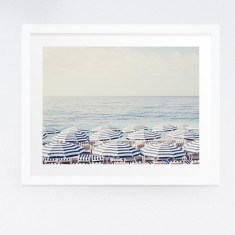 French Riviera beach photography print