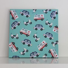 Rescue vehicles wall canvas
